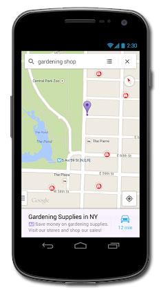 Reklamy w mobilnych mapach Google