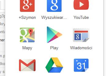 Nowe menu w Google