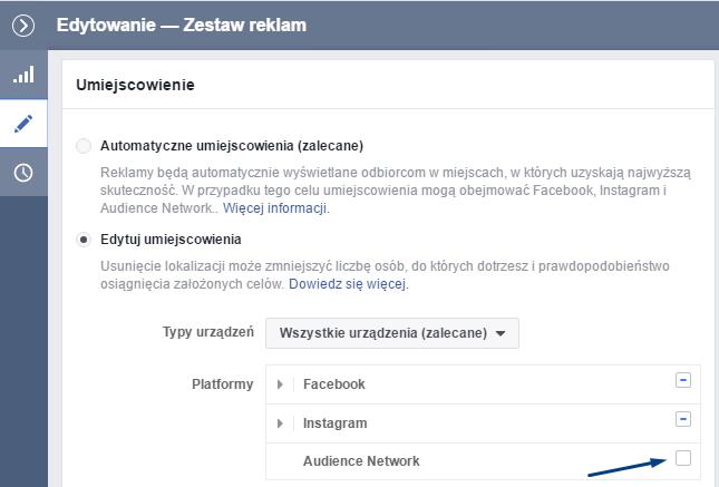 ustawienia reklamy na facebooku