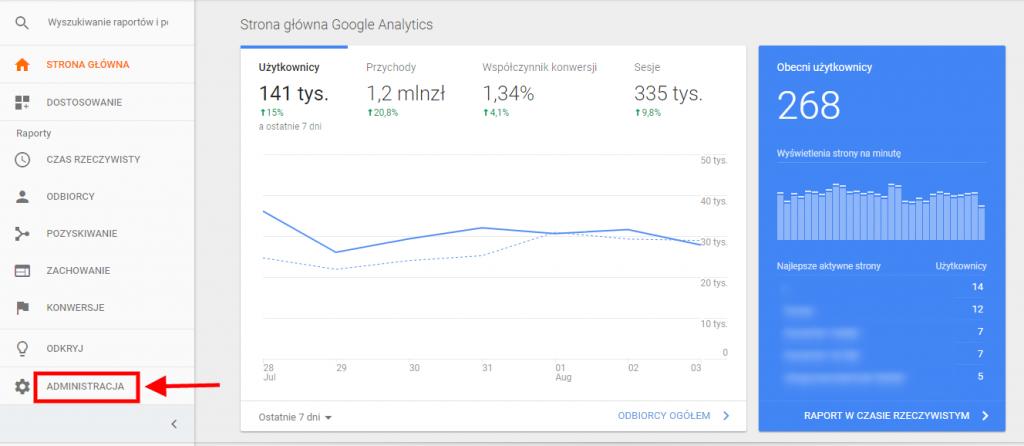 administracja google analytics