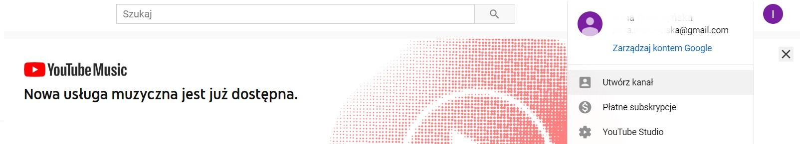 tworzenie kanału na YouTube