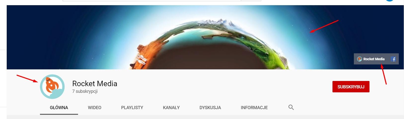 grafiki na kanału YouTube