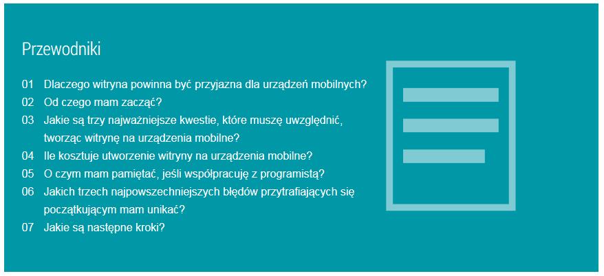 Materiały szkoleniowe Google dostępne są w języku polskim
