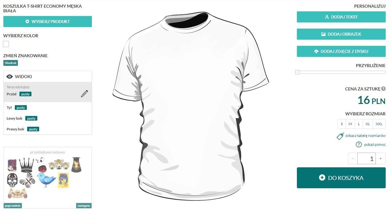 Screen kreatora koszulek