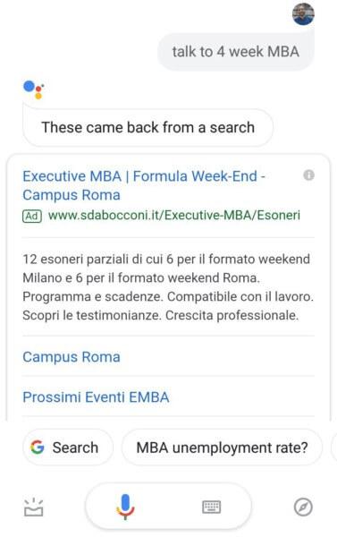 reklama w wynikach asystenta google