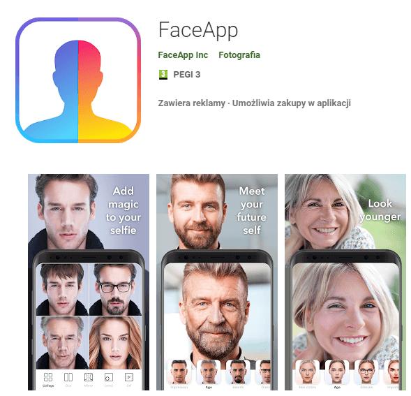 rys. 6. Aplikacja FaceApp (źródło: https://play.google.com/store/apps)