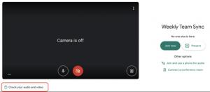 testowanie mikrofonu i kamery - Google Meets