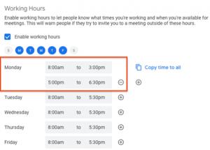 godziny pracy - kalendarz Google
