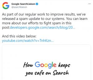 SPAM Update informacja